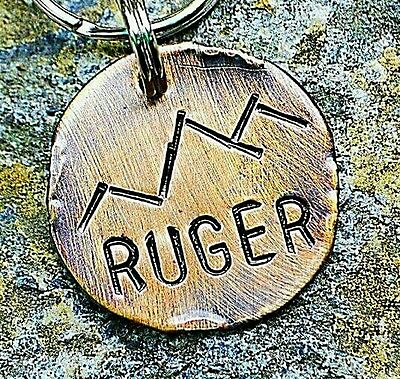 Dog Tags Cat ID Tags -personalized handmade Custom Collar Pet Tags Mountains