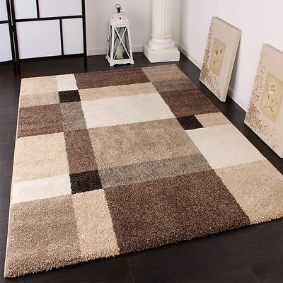 Modern Rug Soft Pile Thick Rugs Beige Small Extra Large Mats Living Area Carpets