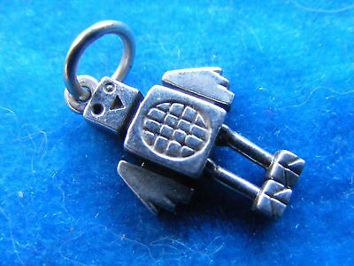 Vintage Sterling Silver Charm Moving Robot