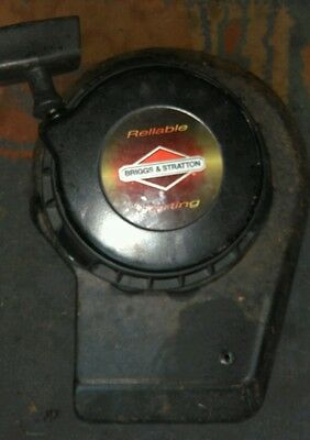 Briggs and stratton recoil pull start petrol lawnmower