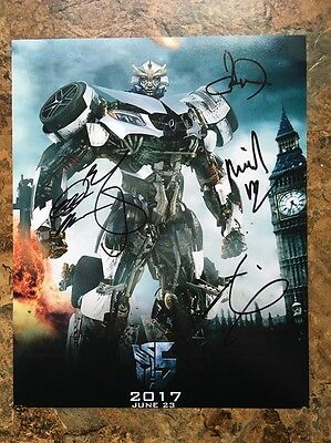 Transformers 5 Signed Cast 8x10 Photo Mark Wahlberg
