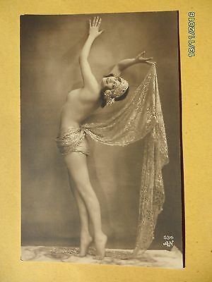 Original French 1910's-1920's Nude Erotic Postcard Gorgeous Classy Lady  #133