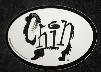 Japanese Chin Oval Euro Style Car Dog Decal Sticker
