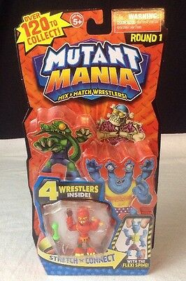 NEW & Sealed Mutant Mania Mix & Match 4 pk Wrestlers Round 1 (Packs Vary)