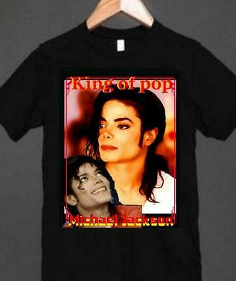 MICHAEL JACKSON T.SHIRT Personalise with Name & Photo  KIDS & Adults S to L SizE