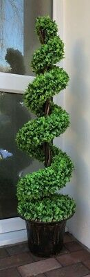 Spiral 120cm Realistic Large Potted Topiary Tree Indoor Outdoor Artificial Plant