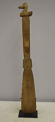 Papua New Guinea Siassi Carved Wooden Bird Clan Ladle
