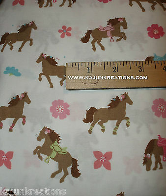 """CIRCO pretty horses GIRLS pony HORSE Western RODEO cowgirl 60"""" poly FABRIC BTHY"""