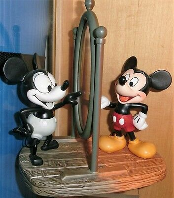 Disney WDCC Porzellanfigur Mickey Mous  - Then and now