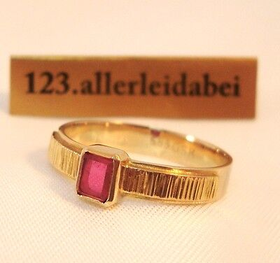 Toller Spinell Ring 585 er Gold ähnlich Rubin pinker Spinell / AS 940