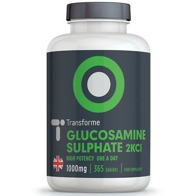 GLUCOSAMINE SULPHATE 2KCl 1000mg 180 365 Tablets High Strength - Transforme