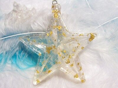 Orgonite Star with real gold flakes - lovely decoration for your Christmas