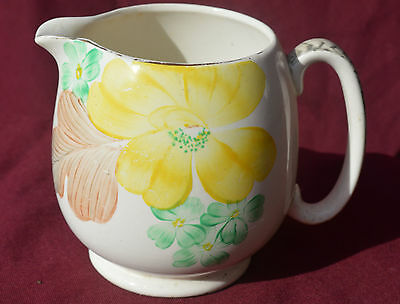 Grays Pottery Hand Painted Floral  JUG. c1930