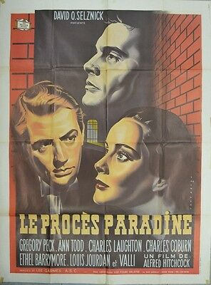 Alfred Hitchcock' S Paradine Case Gregory Peck Ann Todd Movie Poster