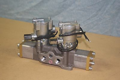 Schrader Bellows Double Solenoid Valve 3 position 4 Way L6953321153 3/8 ports