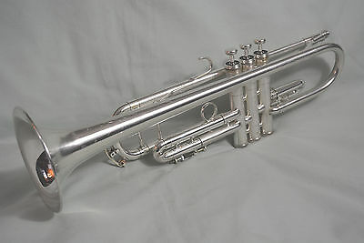 1998 KING SILVER FLAIR 2055T SEMI-PRO Bb TRUMPET~CUSTOM BRUSHED FINISH~EXCELLENT