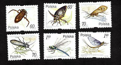 Poland 1999 Insect Beetle Dragonfly Fly Nymph MNH #3470-3475 Set of 6 Syncopated