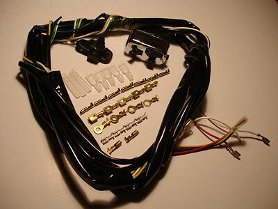 Wiring loom for classic vespa with modern 12v engine