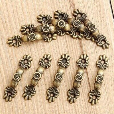 10PCs Box Handle Knobs Arch Tracery Bronze Tone 4.3cmx1cm Furniture