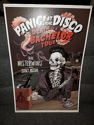 022 Panic! At the Disco Tour poster Death Of A Bachelor Tour Concert poster