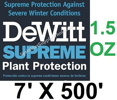 DeWitt Supreme7-5 7' X 500' 1.5 oz  Frost Protection Cloth Freeze Blanket Plants
