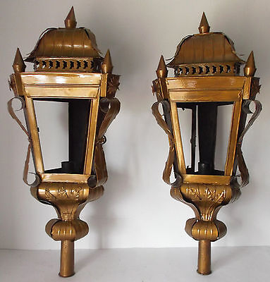 Antique/vintage Pair Of Church Processional Lanterns/flashlights