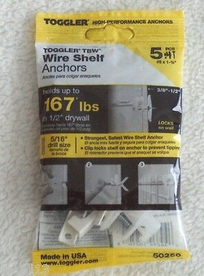 Toggler Wire Shelf Anchors