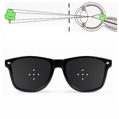 5 Holes Anti Fatigue Eyesight Vision Improve Pinhole Stenopeic Glasses Pin Hole