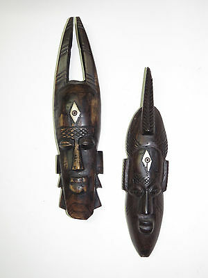 Pair of African Mask  African Art Senufo Tribe Ivory Coast