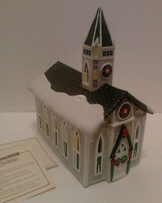 Claire Burke Christmas Memories Hand Painted Victorian Church Candle Burner