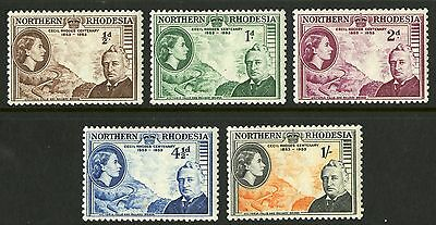 Northern Rhodesia  1953  Scott # 54-58  Mint Very Lightly Hinged Set