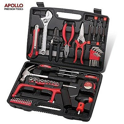 Apollo Precision Tools 53 Piece Household and Garage Tool Kit including Hack ...
