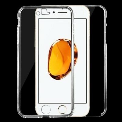 iphone 7 Plus + Schutzhülle Transparent Bumper Etui Tasche Case Cover Handyhülle