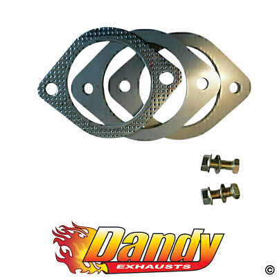 """Exhaust Flange Plates 76Mm 3"""" Inch With Gaskets & Nuts & Bolts 105Mm Bhc 10Mm"""