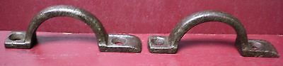 2 Of 30 Antique Cabinet Screen Door Jelly Cupboard Drawer Pulls Great Patina #1
