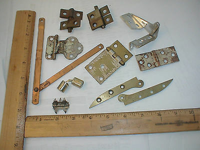 Antique Hinges Lot Unusual Rare Weird Parts Junk Drawer Cleanout Ask For Specifi