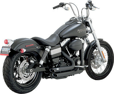 Vance & Hines - 47227 - Shortshots Staggered 2:2 Full Exhaust System (Black)