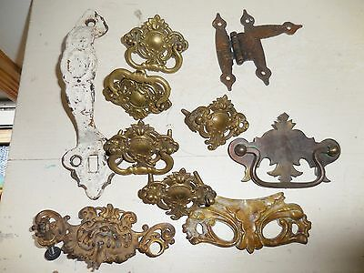 Vintage Lot Drawer Pulls Knobs Hardware Gothic Gargoyle Northwind Mask Victorian