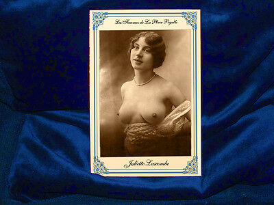 Vintage French Postcard Cabinet Card Risque Woman Pigalle 1885 Photograph JL RP