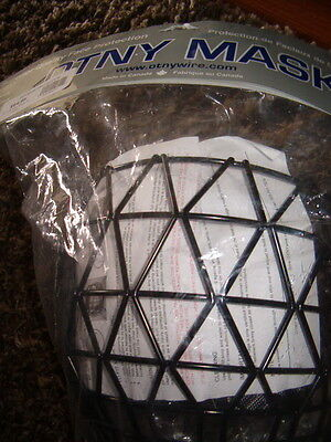OTNY Black wire Ringette cage Sr new in sealed bag fasteners chin guard included
