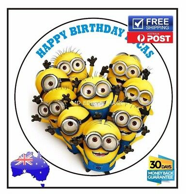 Despicable Me Minion edible image icing sheet birthday party cake topper