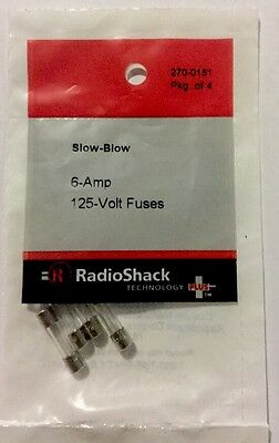 № 4-Pack Lot of 1 Radio Shack 2A 250V 5x20mm Slow-Blow Glass Fuse 2701064