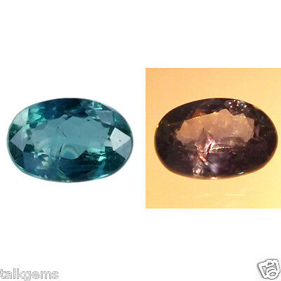0.30 Cts Rare 100% Natural Alexandrite Color Change Oval Brazil Loose Gemstone