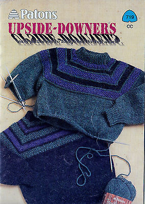Knitting Pattern Childrens  & Adults Sweaters Upside-Downers Cardigans