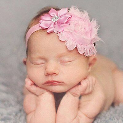 10pcs Kids Girl Baby Toddler Lace Flower Headband Hair Band Accessories Headwear