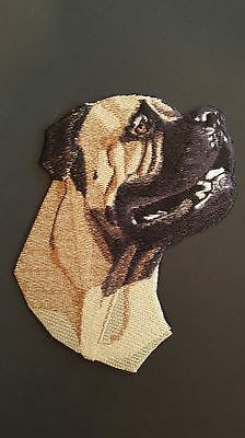 """Beautiful Mastiff Dog Embroidered Patch Approx Size 6""""x5.5"""""""