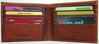 RFID protected  Full Grain Hunter Vintage Leather Wallet . 12050