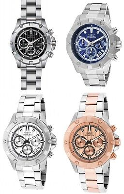 Invicta Specialty Chronograph Stainless Steel Mens Watch 4 colors!