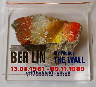 Big High Authentic Piece of The Berlin Wall with Display