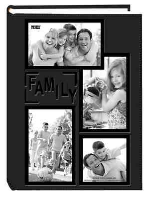 Family Photo Album 300-Pocket Acid-Free Pages Leatherette Collage Frame Cover